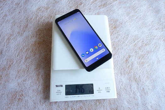 Pixel 3aの重量