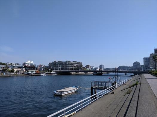 Pixel 3aで撮影した写真 川沿いの風景
