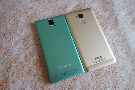 FREETEL Priori 4 ASUS ZenFone 3 Max 比較