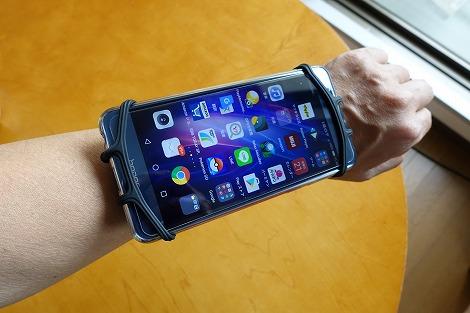 サンワサプライ スマートフォンリストバンド(PDA-ARM6BK) レビュー