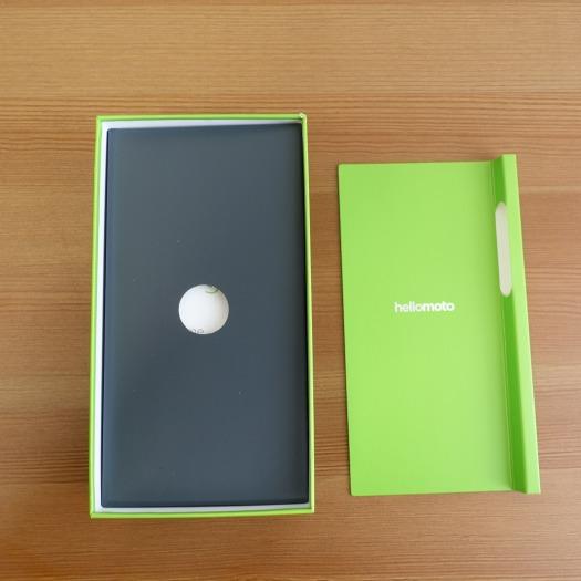 モトローラmoto g7 plusの黒い箱